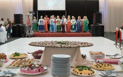 """Dan ruske kulture """"10. Ruska kuhinja na međimurskom stolu""""restoranu hotela Panorama u Prelogu."""