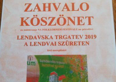 Slovenija 40. Lendavska trgatev 2019 nastup